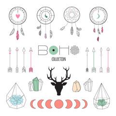Set boho ethnic elements