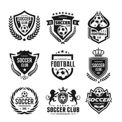 Football and soccer college vector logo set