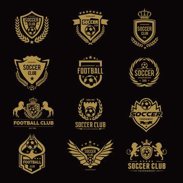 Football college logo,football logo,soccer logo,vector logo template