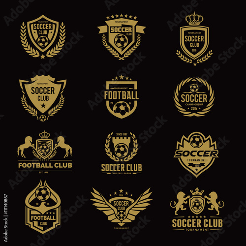 Football College Logo Soccer Vector Template