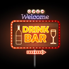 Drink bar Neon sign