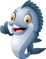 cartoon fish giving thumb up
