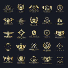 Luxury logo set,Best selected collection,Hotel logo,crest logo set,boutique logo,Vector logo Template