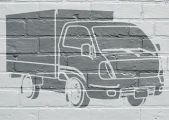 Art urbain, camion