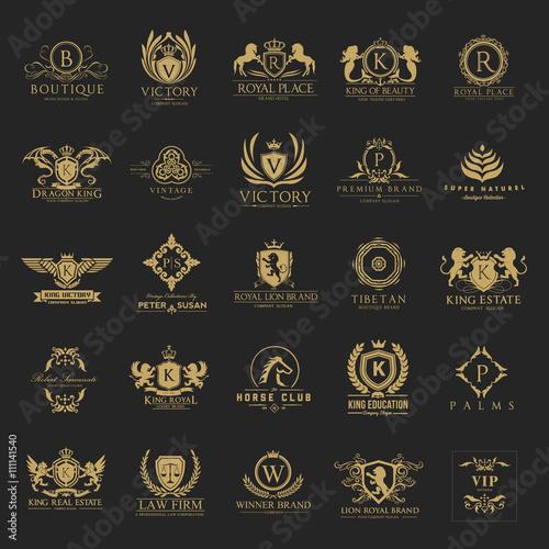 Luxury logo set,Best selected collection,Hotel logo,crest logo set,boutique logo,Vector logo Template