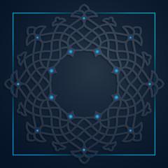 Arabic circle geometric pattern for islamic background