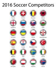 2016 europeans soccer competitors