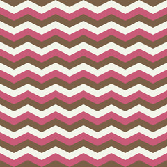 Pink brown zig zag seamless pattern