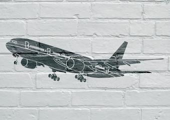Art urbain, avion