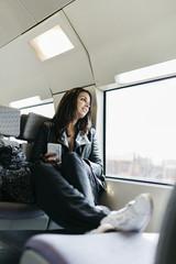 Fenster,Bahnreise,sitzen,Eisenbahn,reisen,Sitz,entspannt