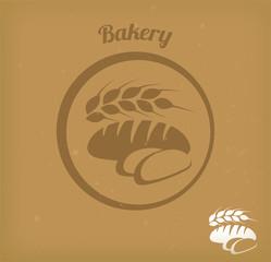 Bakery/ bread icon vector