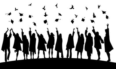 Graduation joy and freedom