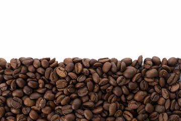 コーヒー豆とコピースペース
