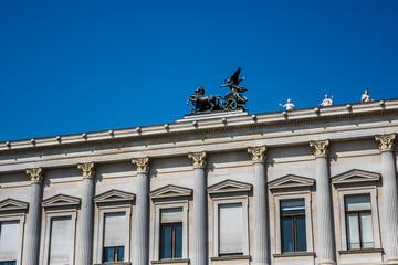 Historic building of the Austrian Parliament in Vienna, Austria.