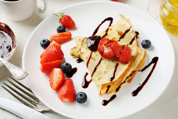 french crepe with berries