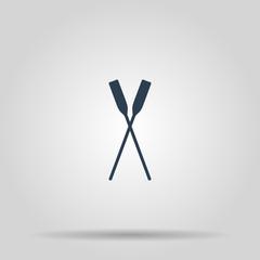 Paddle icon vectorr. Concept illustration for design