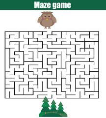 Maze game: animals theme