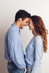 lächeln,Nähe,Gemeinsam,glücklich,Liebespaar,Zuversicht,Harmonie
