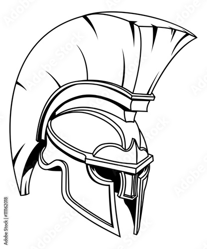 Spartan Or Trojan Gladiator Helmet Stock Image And Royalty Free