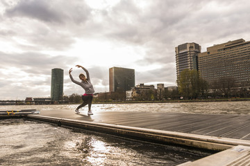 Lifestyle,Frankfurt,Fluss,Skyline,Main,Fitness,Textfreiraum