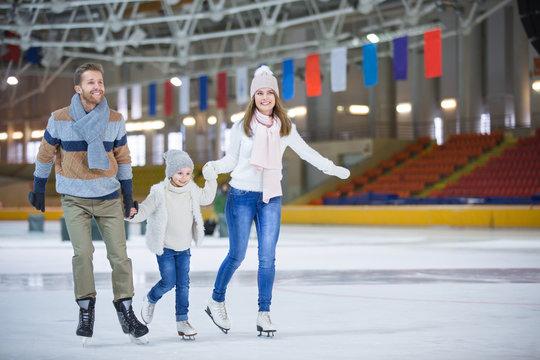 At ice-skating rink