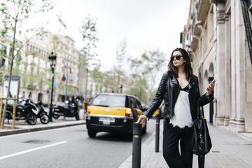 Tasche,Auto,Sonnenbrille,warten,stehen,Stadt,Urban