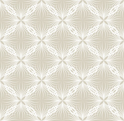 Abstact floral ornamental seamless pattern  Oriental geometric line vector ornament