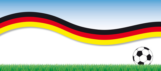 soccer banner with german flag