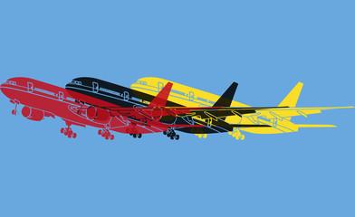 Avion de transport pop art