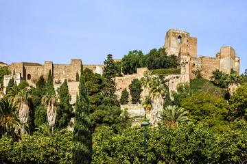 Malaga, Spain, Alcazaba fortress. Andalusia