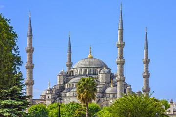 Istanbul, Turkey. Blue mosque Sultanahmet