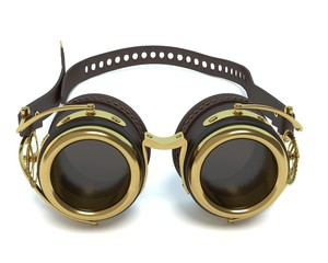 3d illustration of steampunk goggles