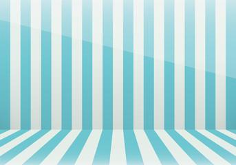 縞模様の部屋(青色)