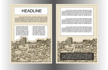 brochure template cityscape uno
