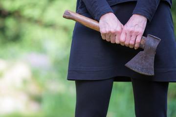 Emanzipation, eine Frau wehrt sich
