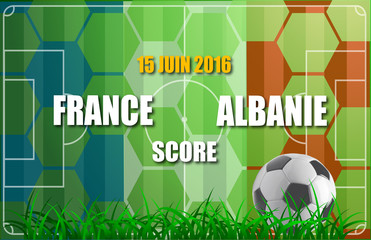 France / Albanie soccer game - Supporter template