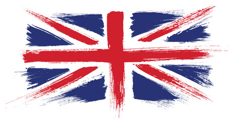 Watercolor painted flag of Great Britain