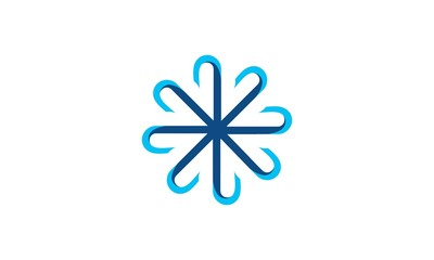 abstract connection network logo