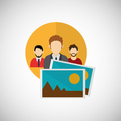 businessman design. corporate icon. Isolated illustration