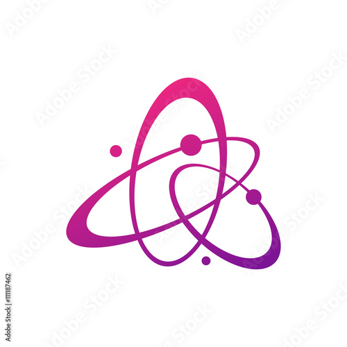 Abstract Galaxy Vector Logo Concept Abstract Planets Illustration