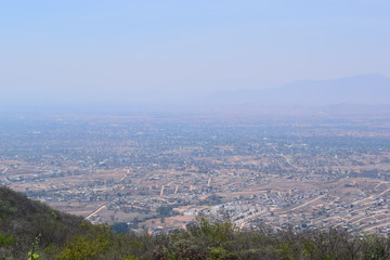 View from Monte Alban ruins, Oaxaca Mexico