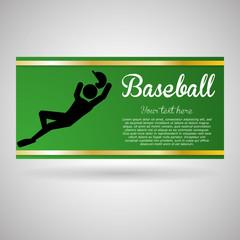 Baseball design. sport icon. flat illustration