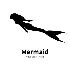 Vector illustration of a mermaid silhouette