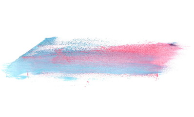 photo blue red grunge brush strokes oil paint isolated on white background