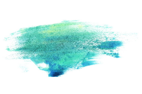 photo green grunge brush strokes oil paint isolated on white background