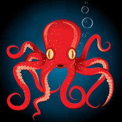 Illustration octopus vector animal underwater