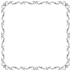 Decorative black square calligraphic frame.