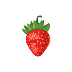 Strawberry icon in cartoon style