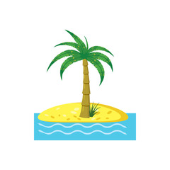 Palm tree icon, cartoon style