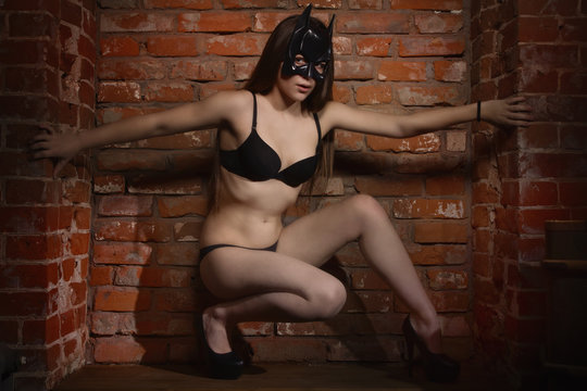 girl in the mask of Batman